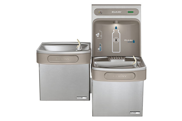 Filtered EZH2O® Bottle Filling Station with Versatile Bi-Level Green ADA Cooler