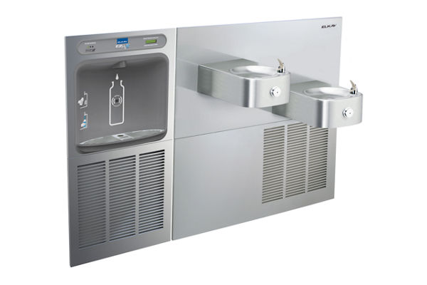 Filtered EZH2O® Bottle Filling Station with SoftSides® Bi-Level Refrigerated Fountain