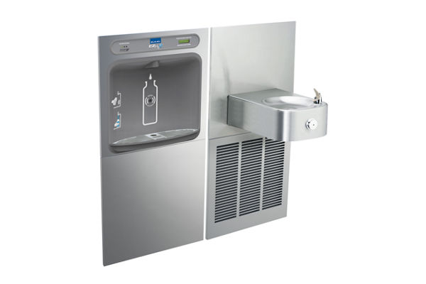 Filtered EZH2O® Bottle Filling Station with SoftSides® Single Refrigerated Fountain