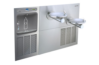 Image for Filtered EZH2O® Bottle Filling Station with SswrlFlo® Green Bi-Level Refrigerated Fountain from elkay-consumer