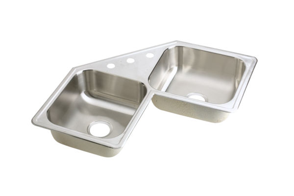 Neptune Stainless Steel Double Bowl Top Mount Sink