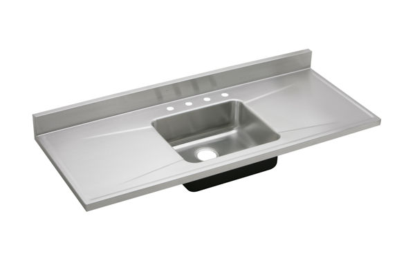 Gourmet (Lustertone) Stainless Steel Single Bowl Sink Top Sink