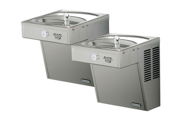Filtered Vandal-Resistant Wall Mount Bi-Level Green ADA Cooler