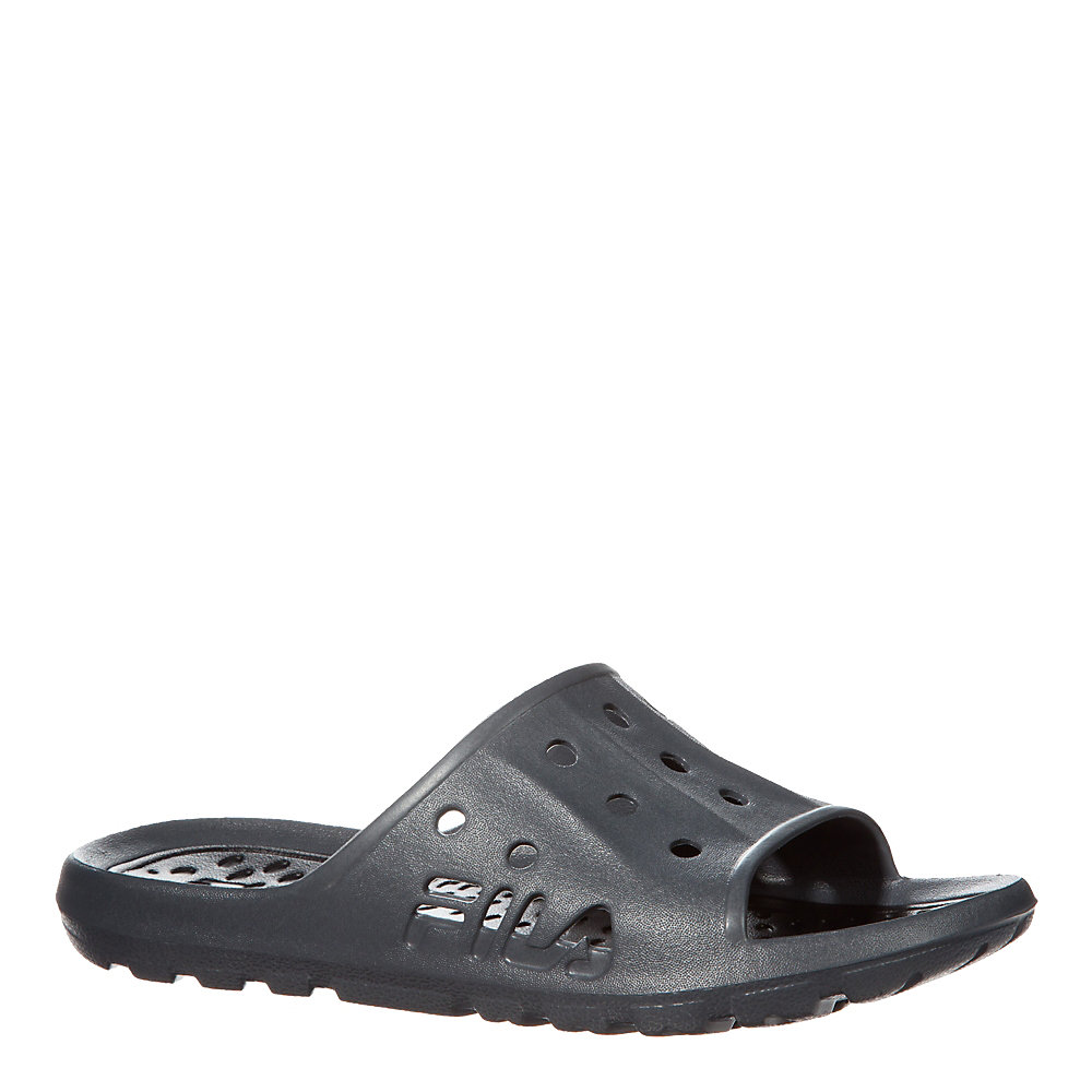men's refrain 2 slide flip flop shoe in heathergrey