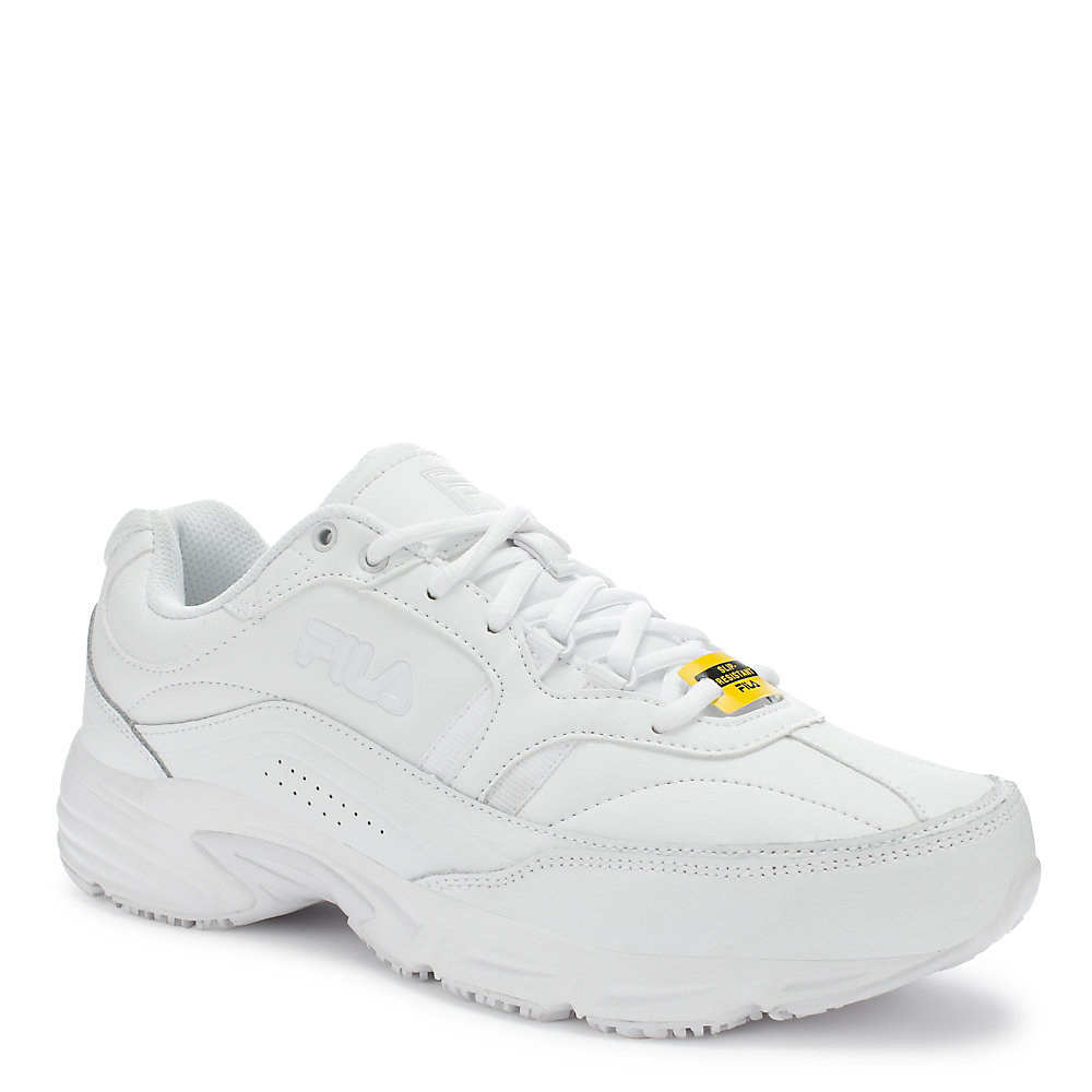 men's memory workshift slip resistant in white