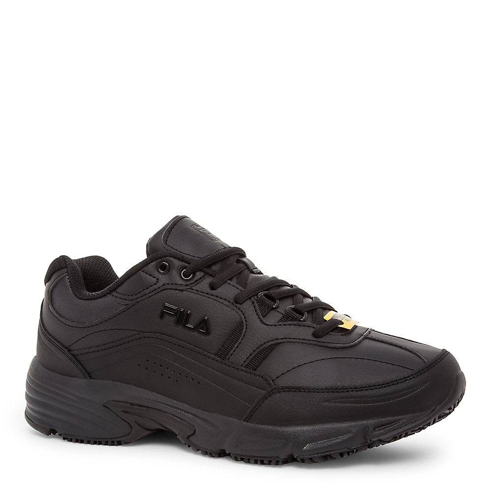 men's wide memory workshift slip resistant in black
