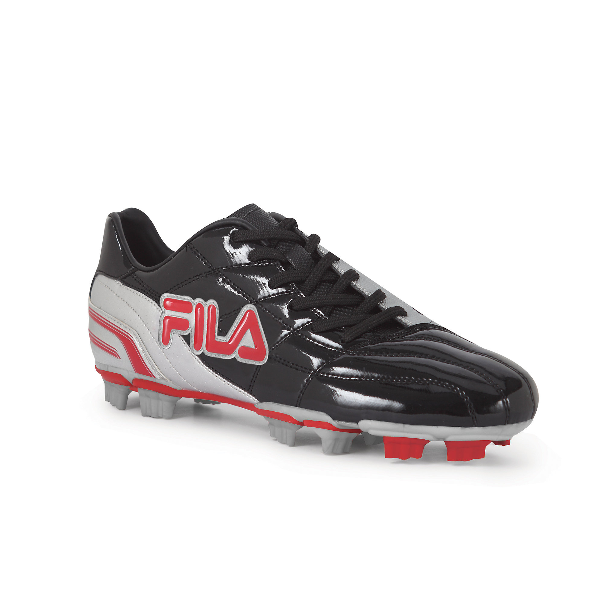 kids' calcio 11 rb in black/metallic silver/chinese red