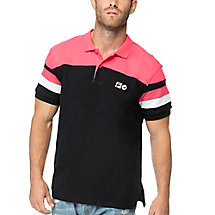 blocked polo in black