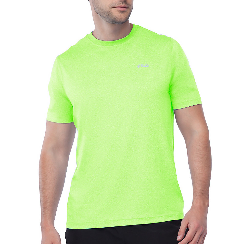 performance heather short sleeve tee in FM121P44_735_sw_e