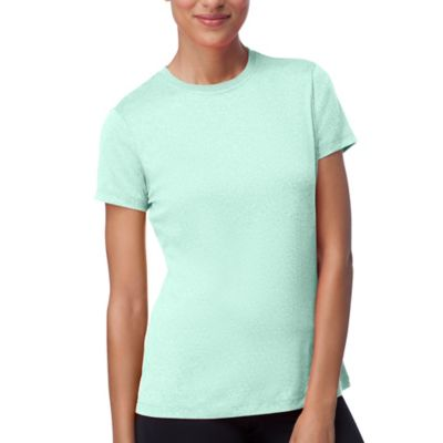 W SHORT SLEEVE CREW HEATHER TE