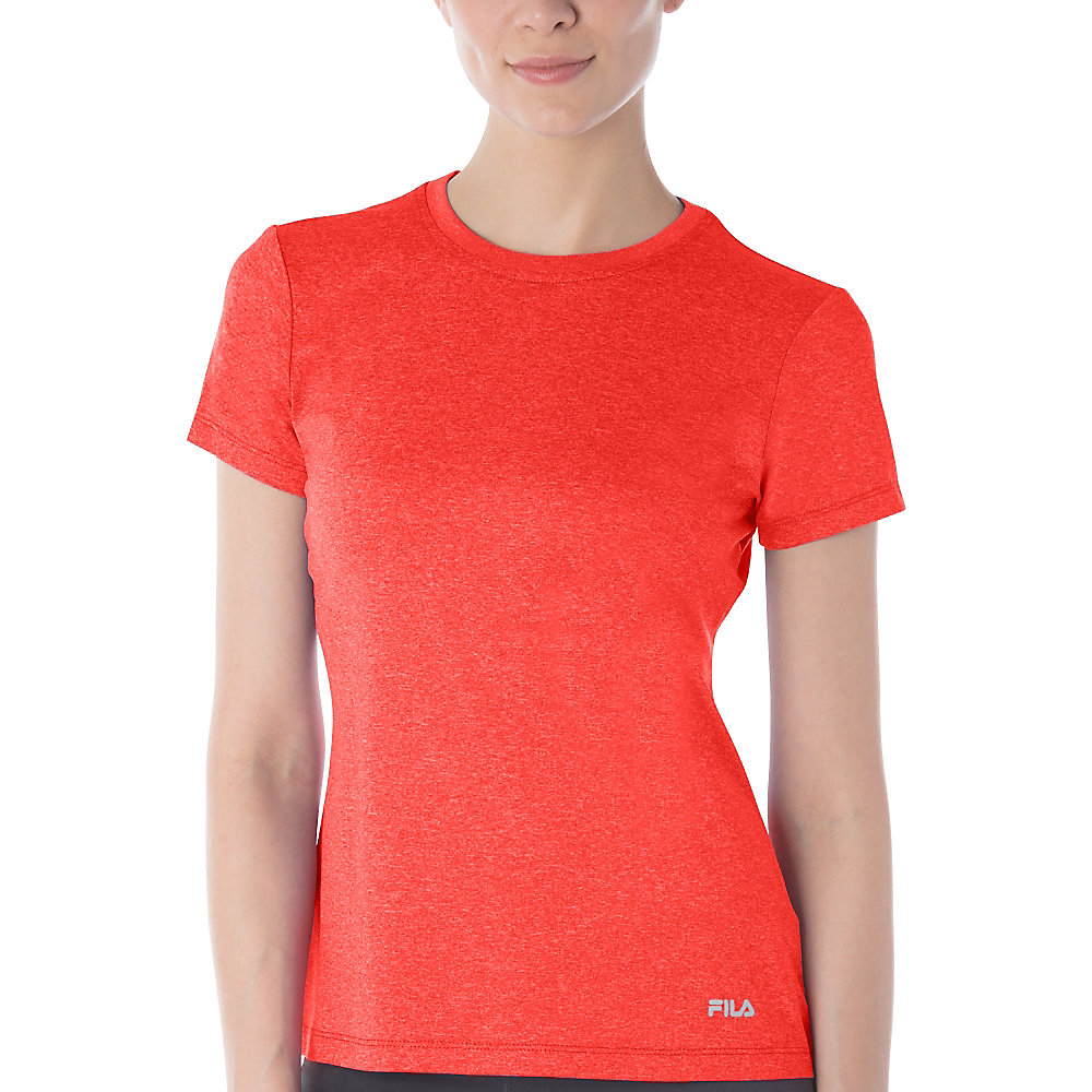 short sleeve crew heather tee in FW123AY3_849_sw_e