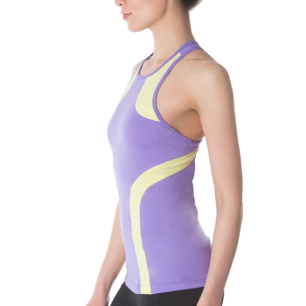 fly girl halter tank in irisorchid