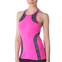 fly girl halter tank in shockingpink