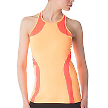 fly girl halter tank in orange