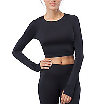 cali cropped crew in black