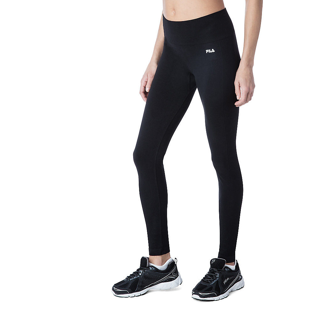 leg high seamless tight in black