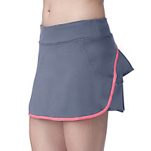 flirt back skort in grey