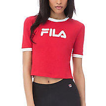 tionne crop tee in red