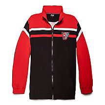 bball warm-up jacket in chinesered