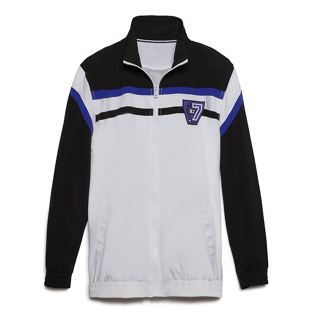 bball warm-up jacket in black