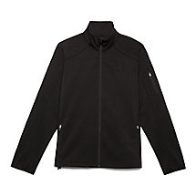 bulls eye bonded jacket in black