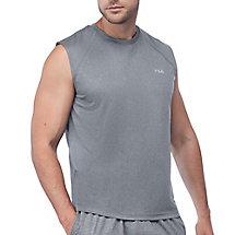 performance heather sleeveless tank in ash