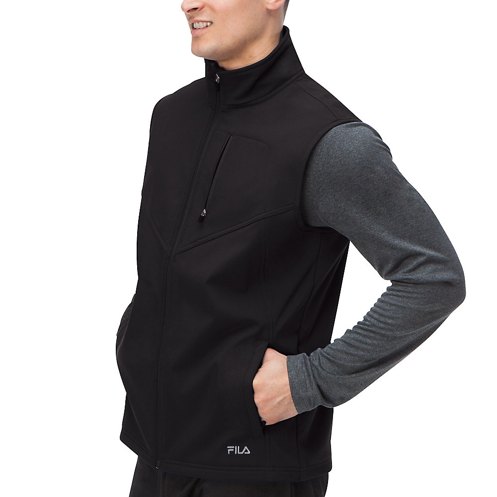 tech vest in black
