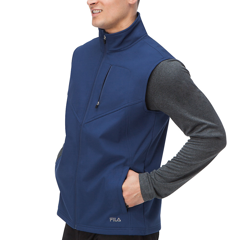 tech vest in peacoat