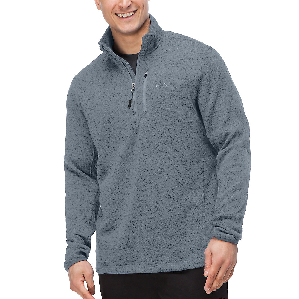 sweather half zip in black