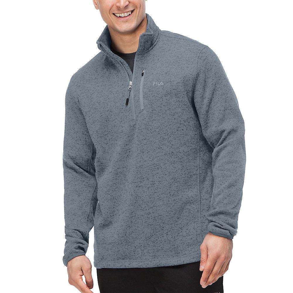 sweather half zip in black