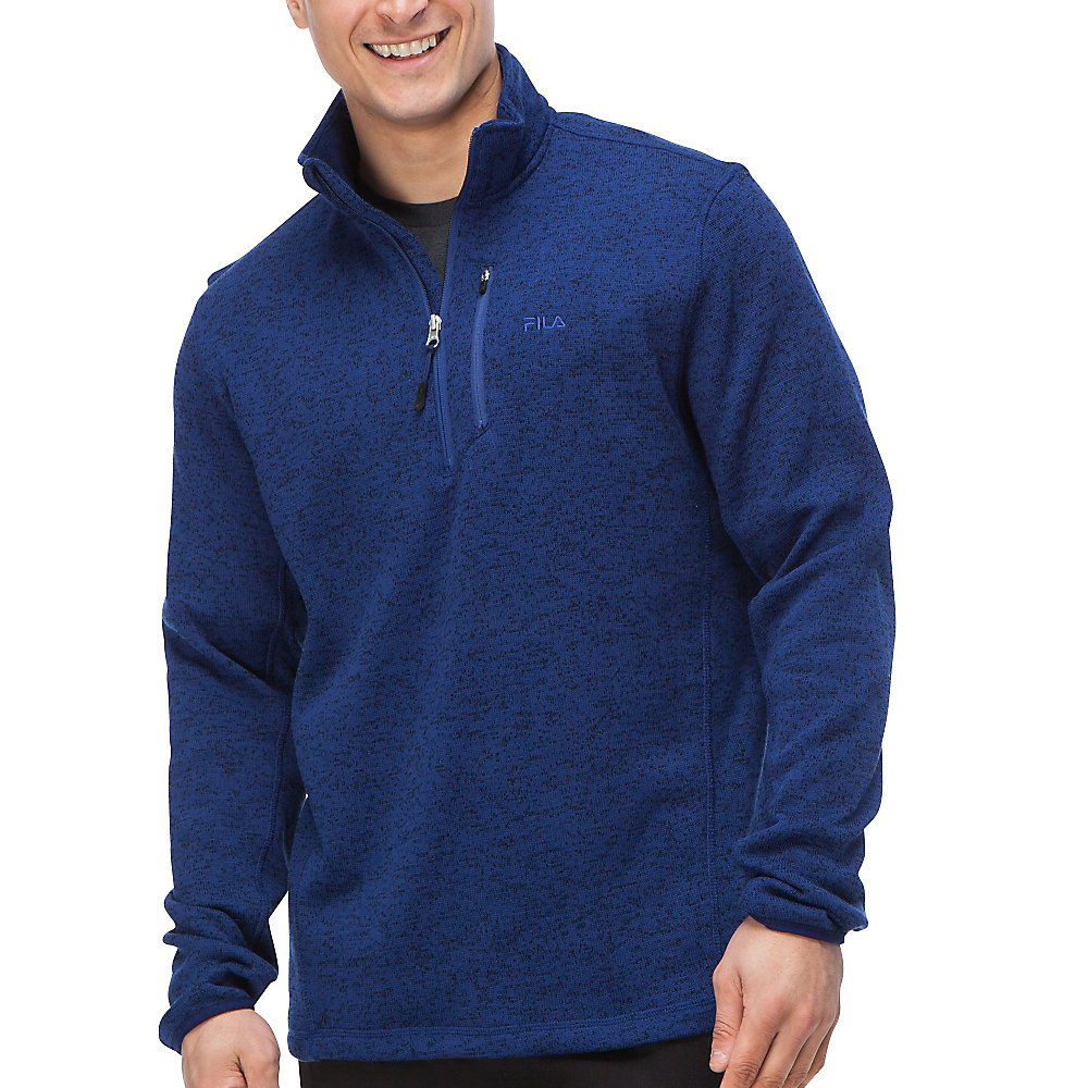sweather half zip in cobalt