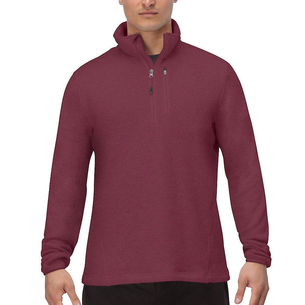 sweather half zip in magenta