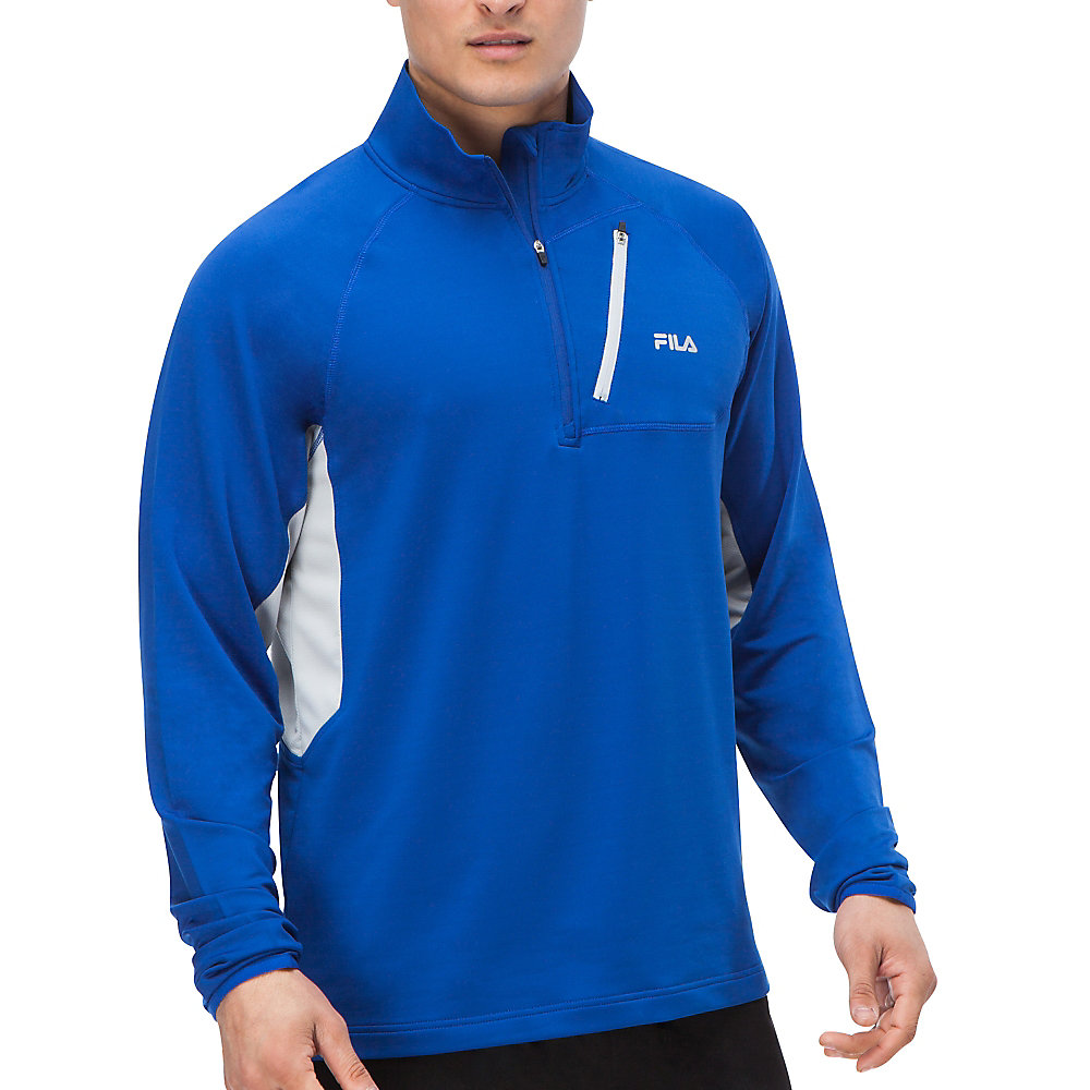 skyline half zip in nauticalblue