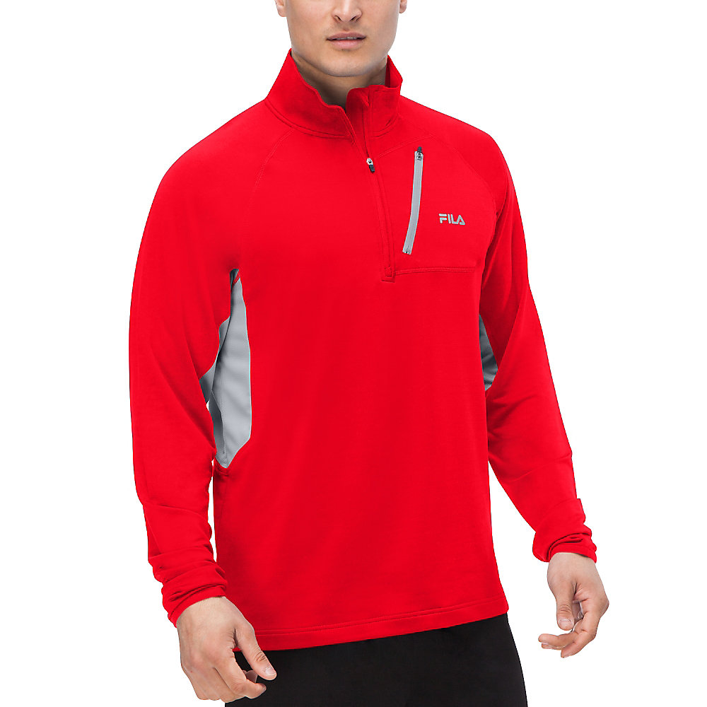 skyline half zip in tangored