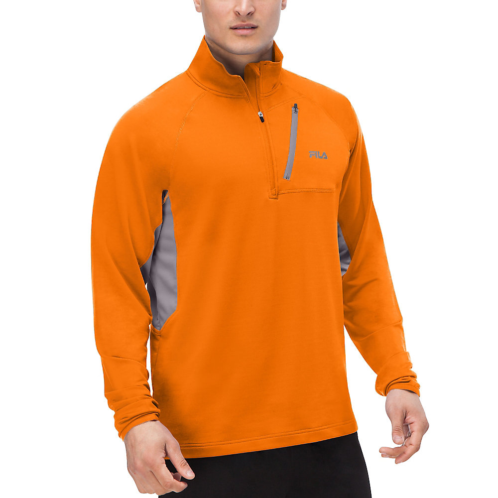 skyline half zip in orange