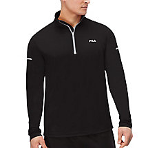 windrunner performance half zip in black