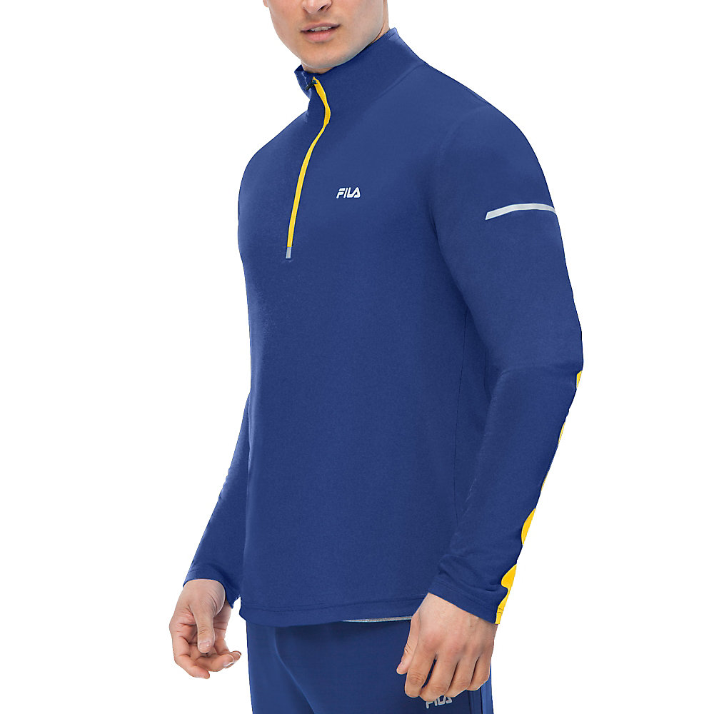 windrunner performance half zip in cobalt