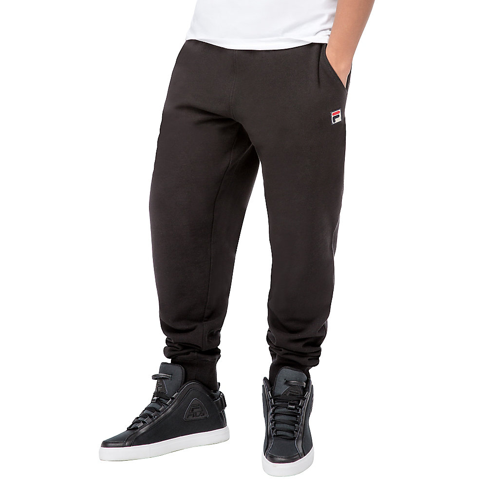 zip pant in black