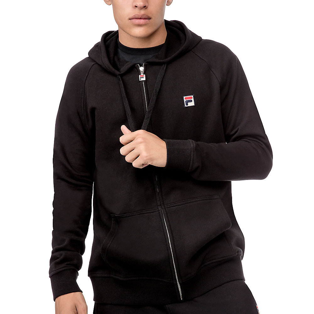 zip hoody in black