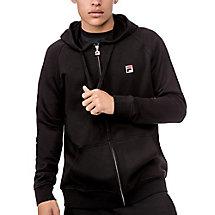 zip hoody in black