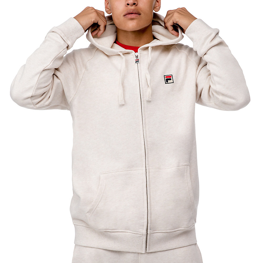zip hoody in cream