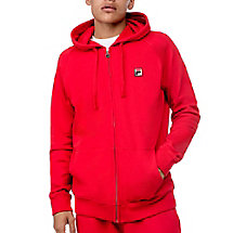zip hoody in red