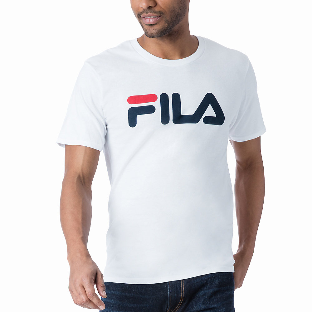 men's fila logo tee shirt in NotAvailable