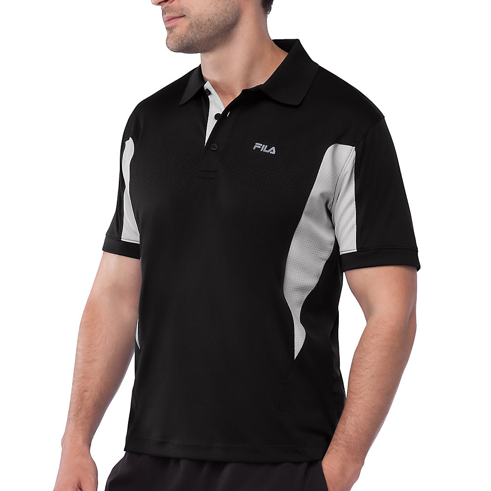depth polo in black