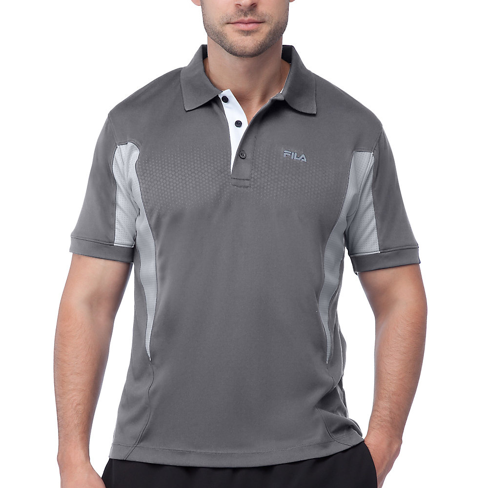 depth polo in grey