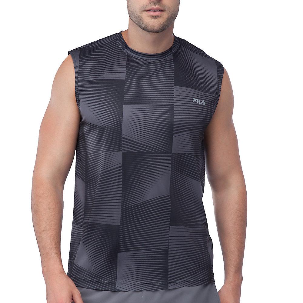 surge sleeveless tank in black