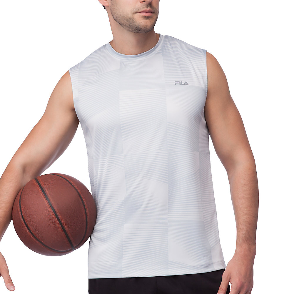 surge sleeveless tank in grey