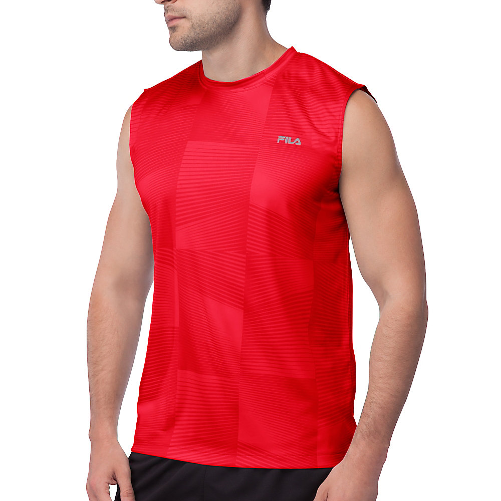 surge sleeveless tank in red