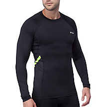 Endurance long sleeve compression top in black
