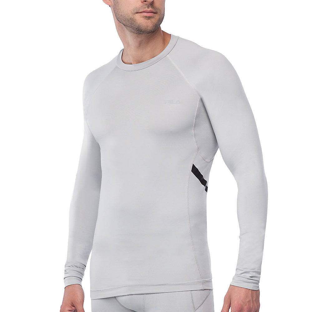 Endurance long sleeve compression top in grey